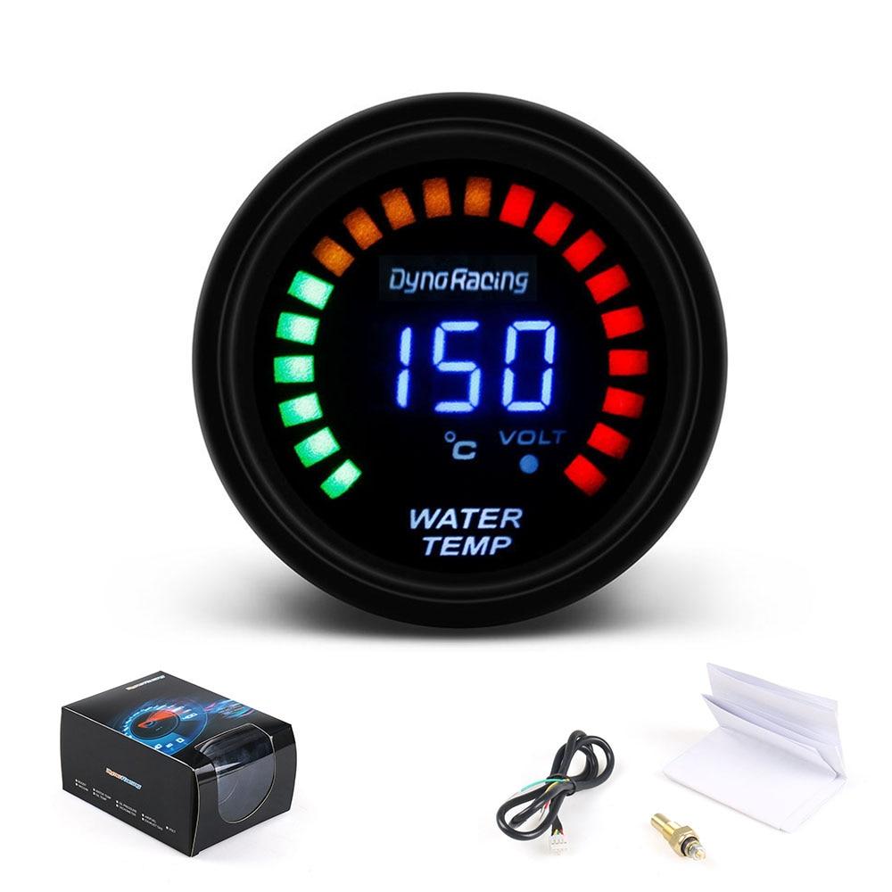 Dynoracing 52mm 2 Inch LCD Digital Car Water Temp Gauge With Sensor Water  Temperature gauge Car meter TT101272