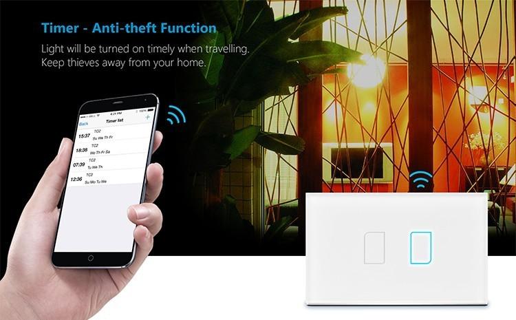 2018 Broadlink TC2 US/AU version 1 2 3 Gang WiFi Accueil automatisation Intelligente Télécommande Led Lumière Switche Tactile Panneau via RM Pro + 19