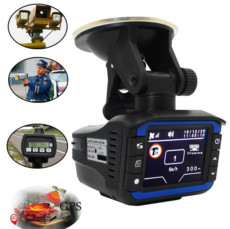 With Russian Voice laser radar 3 in 1 Car DVR GPS 720 p HD Car font