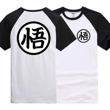 Dragon Ball Z clothing raglan sleeve Vegeta Goku cotton t shirt (6 colors)
