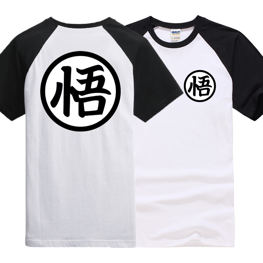 Dragon Ball Z brand clothing raglan sleeve Vegeta kpop cotton   t     shirt   streetwear dragon ball tops 2019 new fashion   t     shirts   men