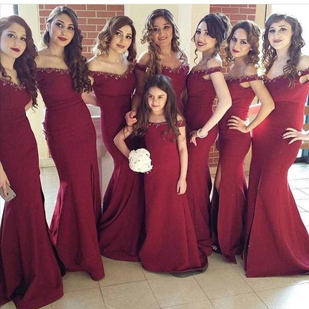 Popular Burgundy Bridesmaids Dresses-Buy Cheap Burgundy ...