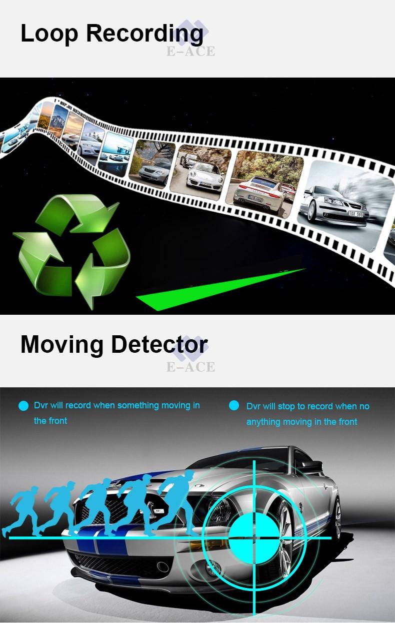 E-ACE Car Dvr WIFI DVRs Dual Camera Lens Registrator Dashcam Digital Video Recorder Camcorder Full HD 1080P 30FPS Night Version 10