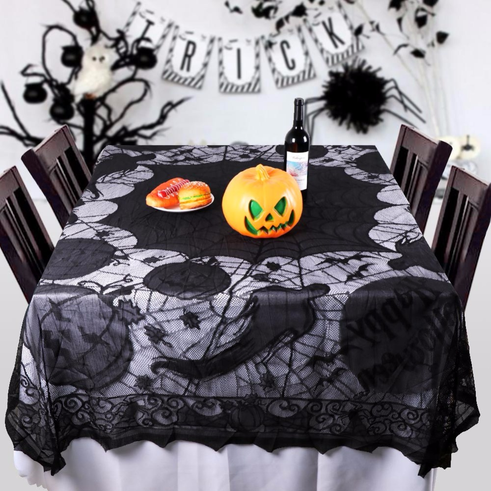1pc Halloween Spider Web Tablecloth Lace Black Table Cover For Party  Halloween Decoration In Party DIY Decorations From Home U0026 Garden On  Aliexpress.com ...