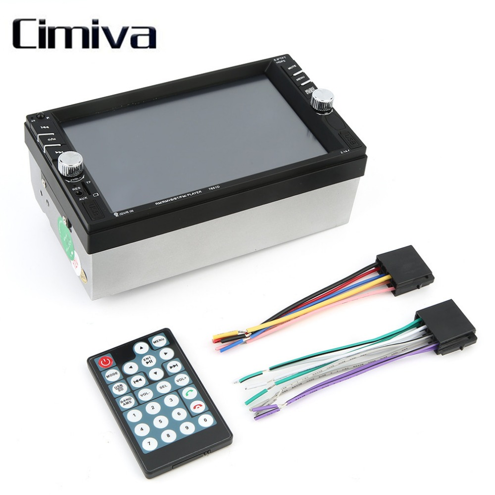 ФОТО Cimiva 7 Inch Touch Screen Car Vehicle Bluetooth FM/MP5 USB Port/TF Card Slot Aux Input DVD Player Auto Rear View Camera Input