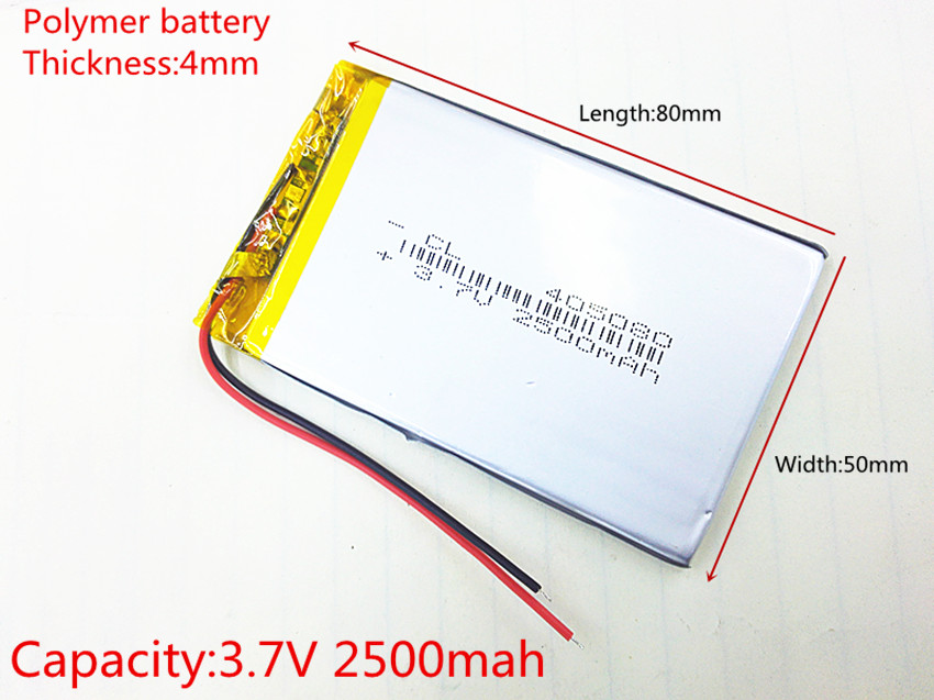 3.7V 2500mAh Lithium Polymer LiPo Rechargeable Battery cells power For PAD GPS PSP Vedio Game E-Book Tablet PC Power Bank 405080 матрас toris giga 16 торис гига 16 70x160