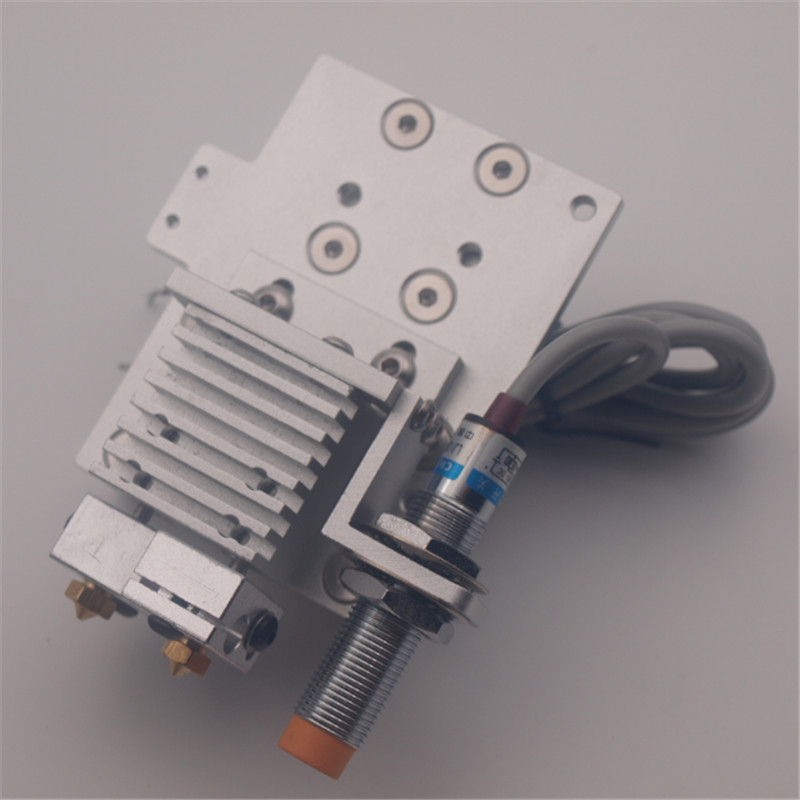 Reprap Prusa i3 X-carriage mount Chimera / Cyclops Bowden  hotend kit 1.75mm and Inductive Sensor Auto-Leveling Probe