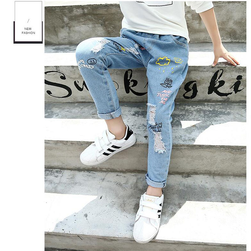 711861e3d499d 2018 Spring Children s Clothes Girls Jeans Plus Size Denim Baby Girl Jeans  For Girls Big Kids Ieans Long Trousers-in Pants from Mother   Kids on ...