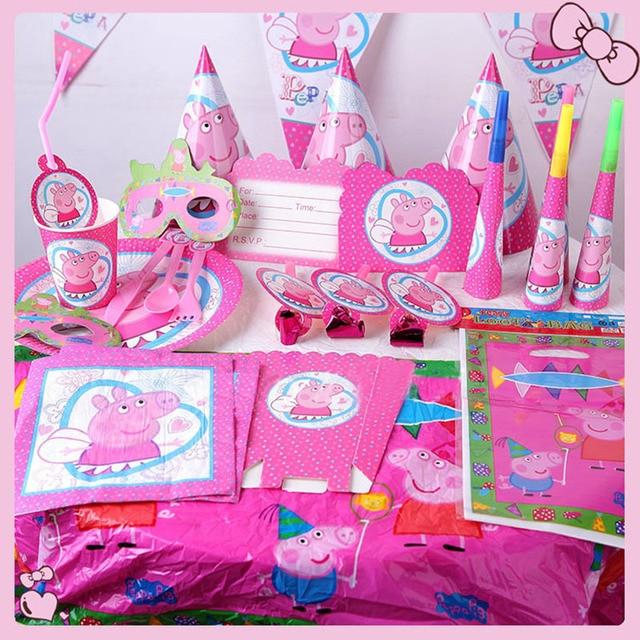 AVEBIEN 9items Set Peppa Pig Birthday Party Decorations Kids Event Supplies Big Hero 6