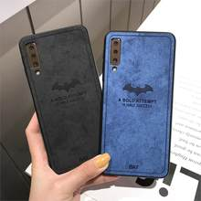 bat Cloth Phone Case On For Huawei Honor 10 Lite 9 8 7C Y6 Prime Y7 Y9 2018 P Smart 8X 7X Note 10 Play Leathe TPU Back Cover(China)