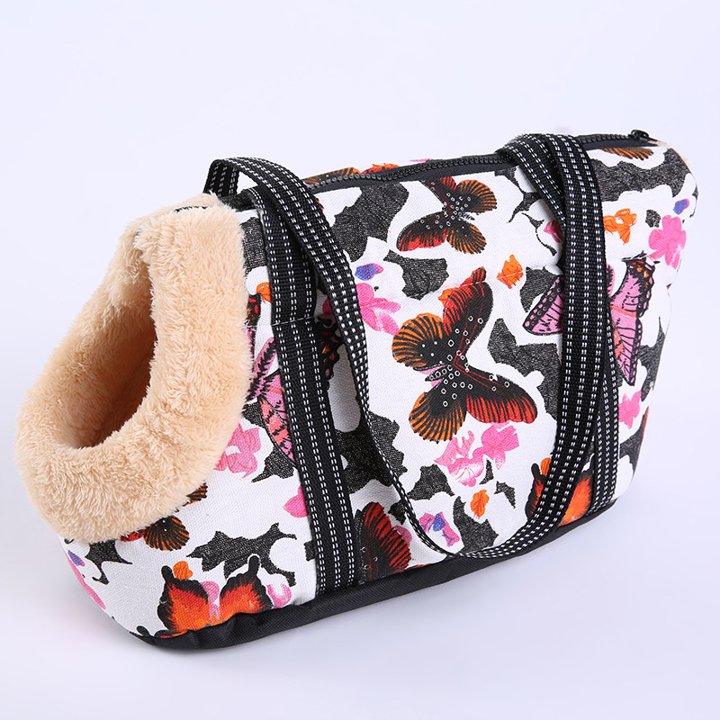 Cartoon Arctic Velvet Dog Bag Cozy & Soft Canvas Burr Pet Carrier Dog Handbag Outdoor Colorful Cat Bags Pet Products Chihuahua #2