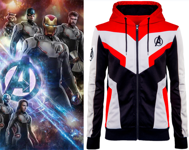 Avengers: Endgame Kid Quantum Realm Sweatshirt Jacket Advanced Tech Infinity War Part II Cosplay Costumes Children Kids Hoodies