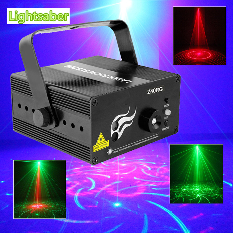 RGB Mini 3 Lens 40 Patterns Mixing Laser Projector Effect Stage Remote 3W Blue LED Light Show Disco Party Lighting mini rgb led stage light 3w remote controls light disco ball lights led party lamp show stage lighting effect usb powered dv 5v