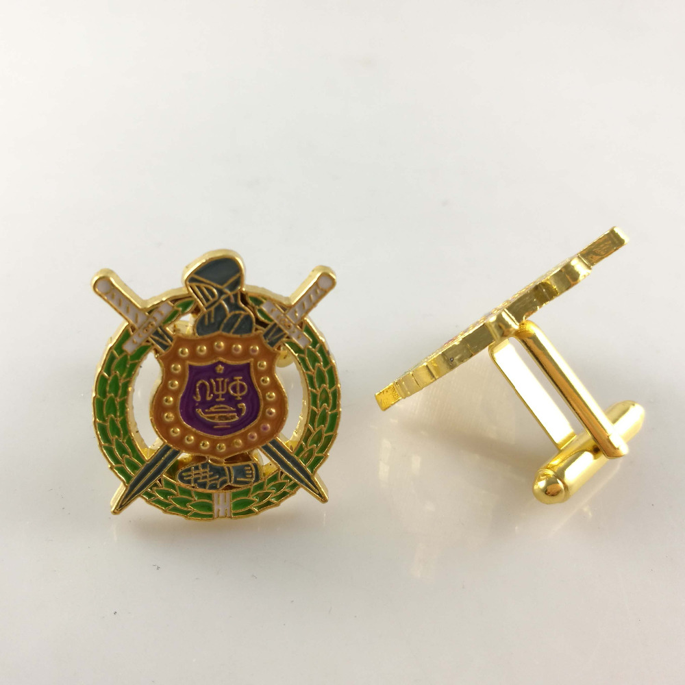 20pair free shipping Omegaa Psi Phi Fraternity LOGO Cufflinks Jewelry