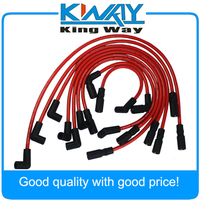 JDMSPEED High Performance Spark Plug Wire Red Fits For Chevrolet GMC 4.3L Vortec V6 1996 2014