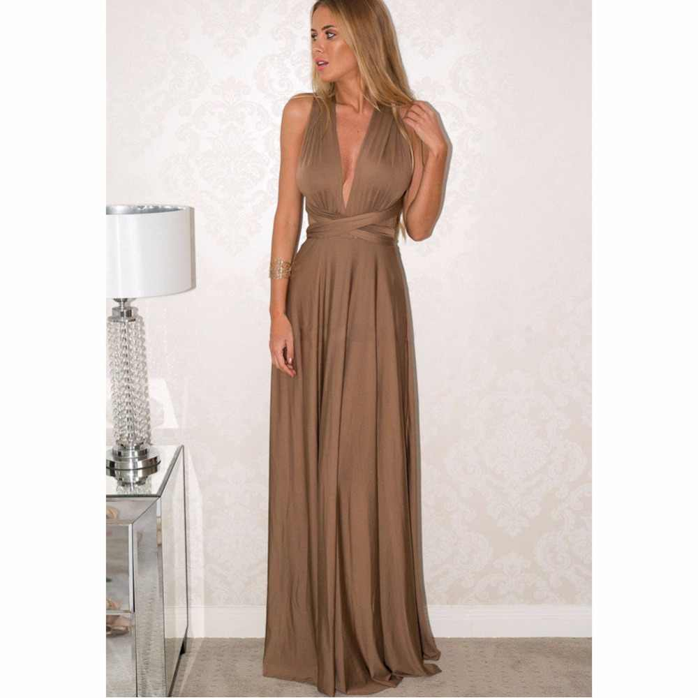 33847974ed ... Sexy Long Dress Bridesmaid Formal Multi Way Wrap Convertible Infinity  Maxi Dress White Party Bandage Vestidos ...