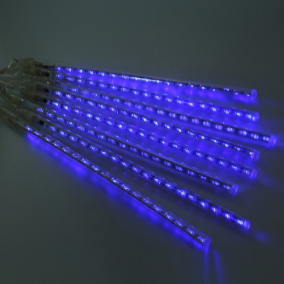 20 см LED Водонепроницаемый метеорный поток строка моросящего дождя трубки декоративные висит США или ЕС штекер