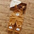 Бесплатная Доставка! Baby Животных Комбинезон, девушки парни милый медведь вельвет одежды маленьких детей РОЗНИЧНАЯ e541