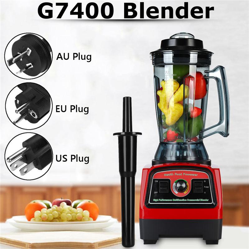 купить G7400 Blender with Blender Tamper EU/US/AU Plug 2800W 110V/220V Create Friction Heat Stainless Steel Blades 3 Adjustable Speed по цене 10516.03 рублей