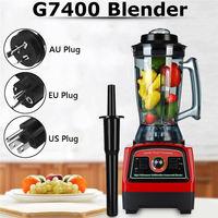 G7400 Blender with Blender Tamper EU/US/AU Plug 2800W 110V/220V Create Friction Heat Stainless Steel Blades 3 Adjustable Speed