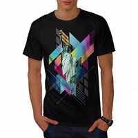 Casual Printed Tee Size S 2Xl Men S Short Sleeve Summer Crew Neck Liberty Stylish Fashion