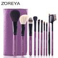 Cosméticos cepillo maquillage zoreya marca animal pinceles de maquillaje de alta calidad de marca