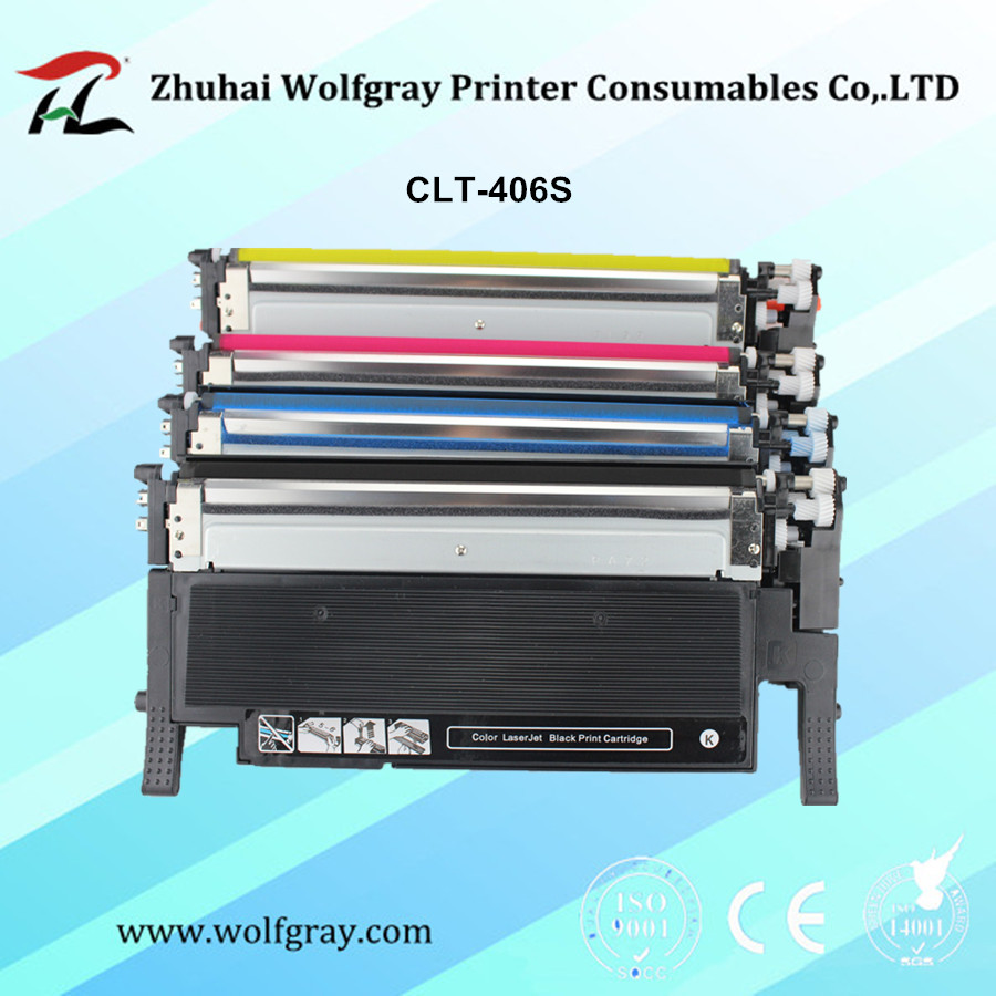 Compatible toner cartridge for samsung 406s M406s CLT-k406S K406S C406S clt-y406s CLP-360 365w 366W CLX-3305 C460FW 3306FN 3305W