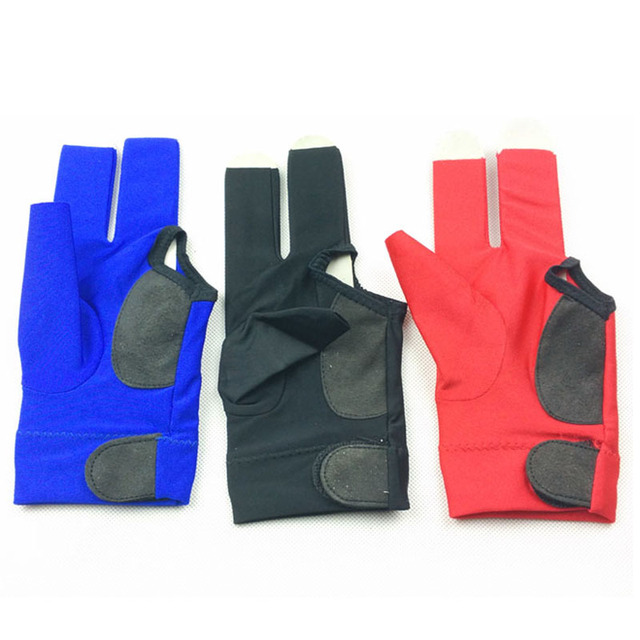 free shipping 2pcs/lot High elastic fabric Billiards Pool Gloves Half-finger snooker cue gloves left-hand Billiards accessories 1