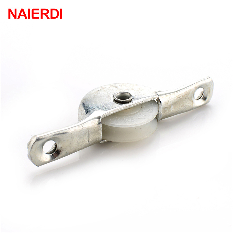 2PCS NAIERDI Sliding Door Roller Wardrobe Copper Runners Window Caster Wheel Pulley For Cabinet Furniture Hardware bangle