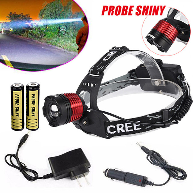 Cycling Bicycle Front Head Torch XM-L  LED Light Focus Headlight Head Lamp Zoomable + 2x18650 +Charger Bike Accessories M25