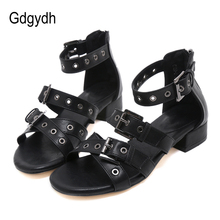 Gdgydh Wholesale 2019 New Women Shoes Summer Open Toe Soft Leather Glad