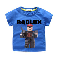 Children Summer Short Sleeve Tee Tops Costume For Boy Short T-shirts Clothing Girls Cotton Game Tshirt Baby Roblox Shirt WJ093(China)