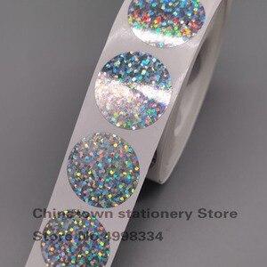 Image 3 - Autocollants grattables, paquet de 1000 pièces, étiquettes adhésives à gratter, épluchées au laser rond de 1 pouce, pour jeux promotionnels