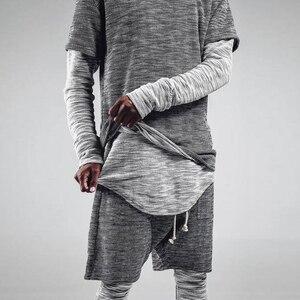 Мужские комплекты одежды в современном стиле, уличная одежда, новые мужские костюмы, футболка с длинным рукавом и шорты, Подростковая индив...