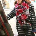 2016 Тартан Шарф Женщины Plaid Шарф Мода Искусственного Кашемир Шерсть Зиму Теплые Шарфы Шали Пончо