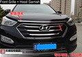 La Capilla del cromo Adorne + Parrilla Delantera de Ajuste Alrededor De 2013 2014 Hyundai Santa Fe IX45 alta calidad chrome vinilos decorativos car styling