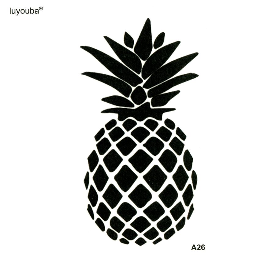 Pineapple Waterproof Temporay Tattoos Stickers Fruit Tatoo Sleeve  Fake Tattoo Sleeves Tattoo Sticker For Body Art Tatuajes