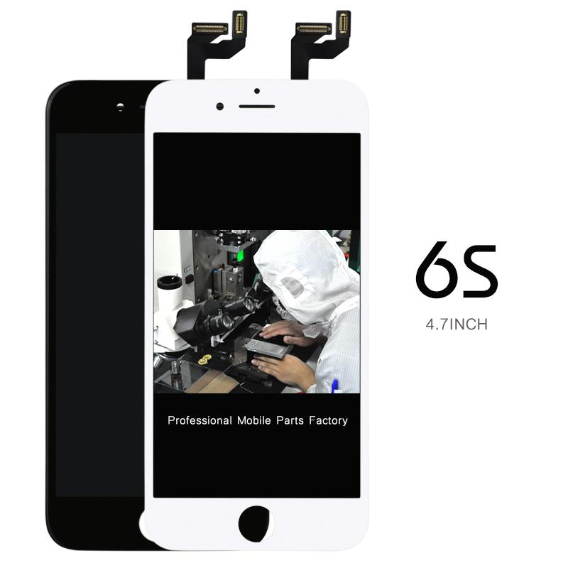Prix pour Tian ma 5 pcs bonne qualité pour iphone 6s lcd écran avec tactile digitizer assemblée d'affichage remplacement blanc noir + caméra titulaire