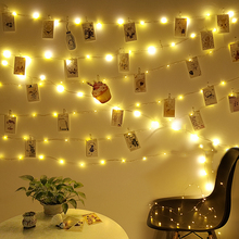Fairy Lights Indoor Christmas Garland Photo Clips LED Lights Decoration Outdoor Party Wedding Lights LED String Holiday Lighting