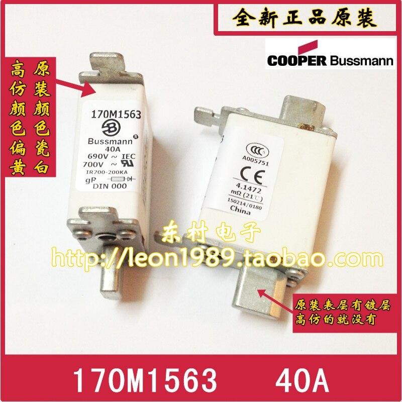 цена на [SA]US COOPER BUSSMANN Fuses 170M1563 170M1563D 40A 690V fuse--3PCS/LOT