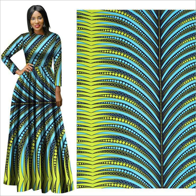 Me-dusa 2019 New Latest colorful hot sale African Print Wax Fabric 100% Polyester Hollandais Wax DIY Dress Suit cloth 6yards/pcs(China)