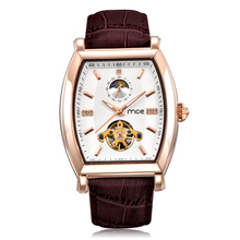 Men Steel Automatic Skeleton Mechanical Watch,Automatic Watch With Luxury Design golden