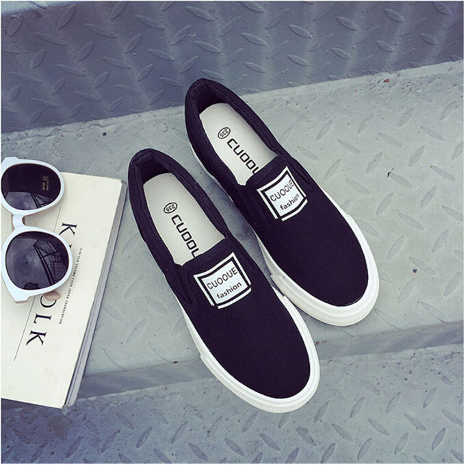 Free Shipping Spring and Autumn Men Canvas Shoes High Quality Fashion Casual Shoes Low Top Brand Single Shoes Thick Sole 7583 -  -  (5) -  -  -