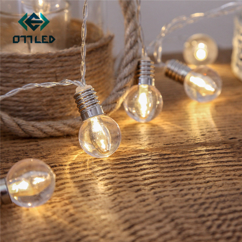 10/20 LED Ball String Light Globe Party Outdoor Led Christmas Lights Fairy Light Decoration Lamp Wedding Garden Party Garland