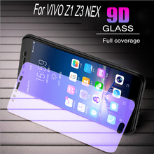 100pcs Glass Protective Film 9D Full Cover Tempered Glass For Vivo Z1 Z3 NEX  Screen Protector   Anti Blue Ray  Glass film 100pcs dental universal x ray film mount frame 100pcs 2holes