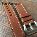 20MM 22MM 24MM 26MM Handmade Leather Strap, Classic Brown Soft Watchbands, Watch Belt For PAM