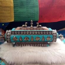 Tibet auspicious eight treasures pattern Tibetan style fragrant incense burner