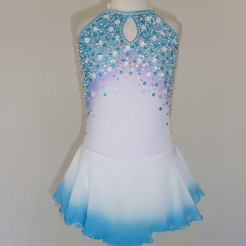 RUBU Custom Ice Skating Dresses Graceful New Brand Vogue  Figure Skating Dresses For Competition Apparel Suit