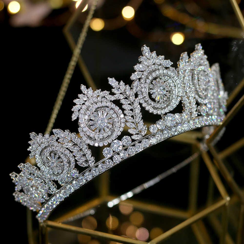 2019 ใหม่ยุโรปงานแต่งงานอุปกรณ์เสริมผมเจ้าสาว crown ชุดอุปกรณ์เสริม