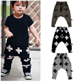 Retail 2016 New Spring Kids Clothing Boys Harem Pants Cross Star Children Girls 100% Cotton Trousers Baby Pants